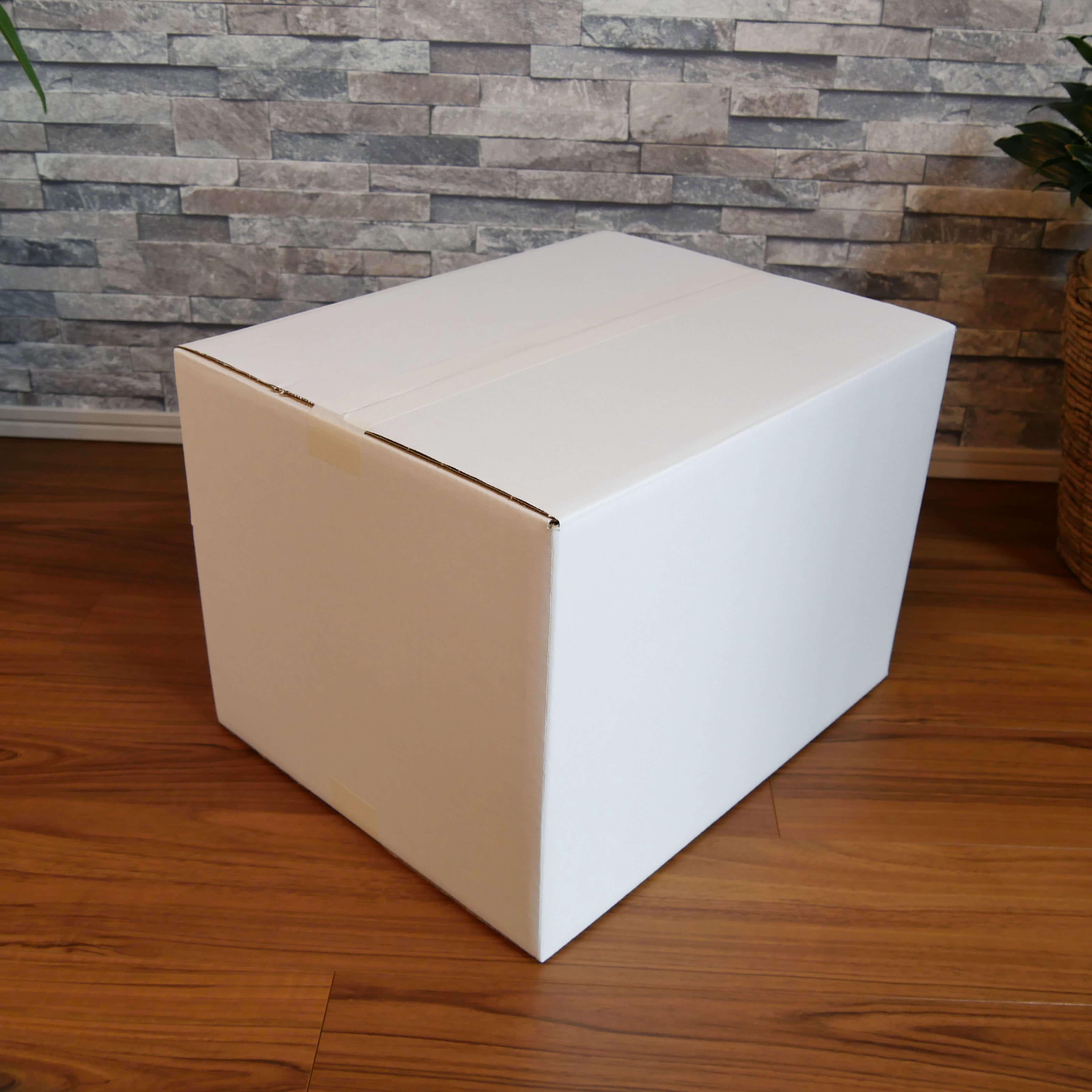 【宅配120サイズ】 白ダンボール箱 (FW05)