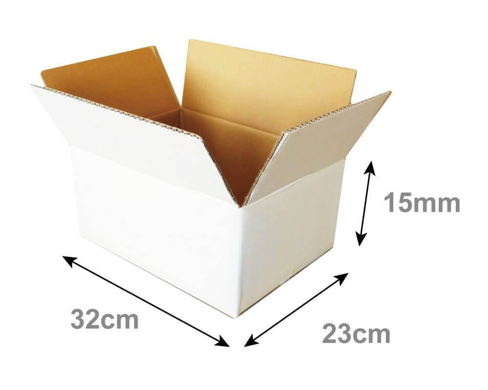 【宅配80サイズ】 白ダンボール箱 (FW07)