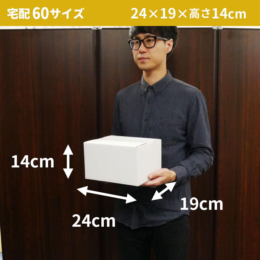 【宅配60サイズ】 白ダンボール箱 (FW08)