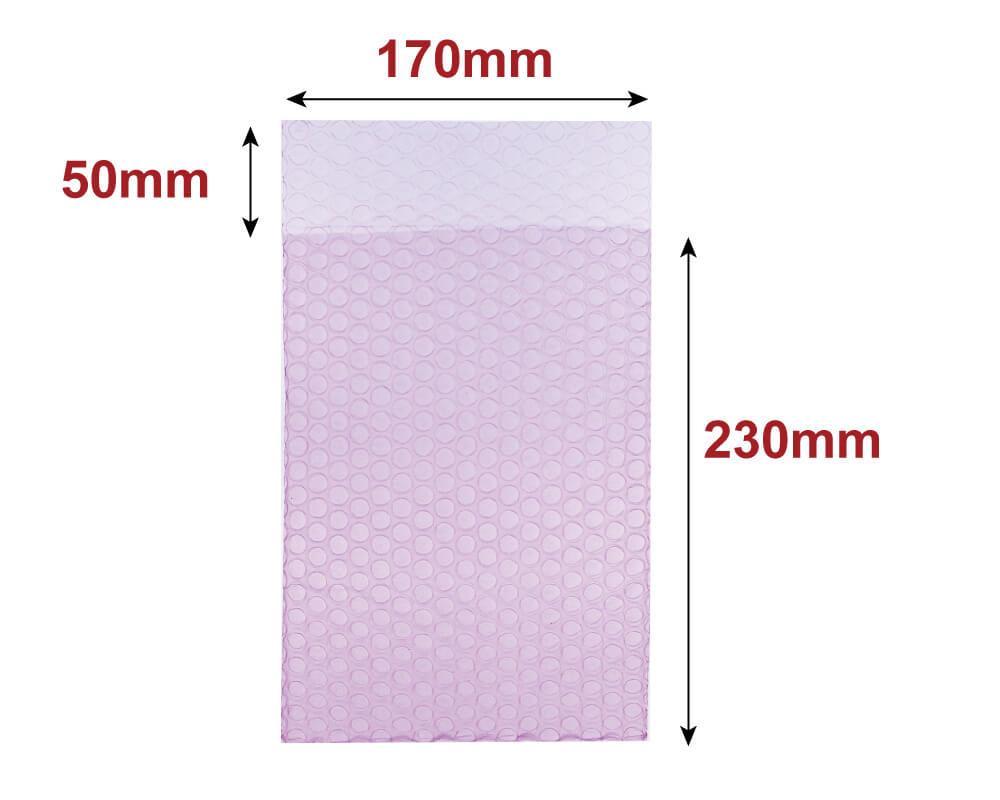 プチプチ袋 A5サイズ(静電気防止) [ 170×230+50mm ] (KF12)