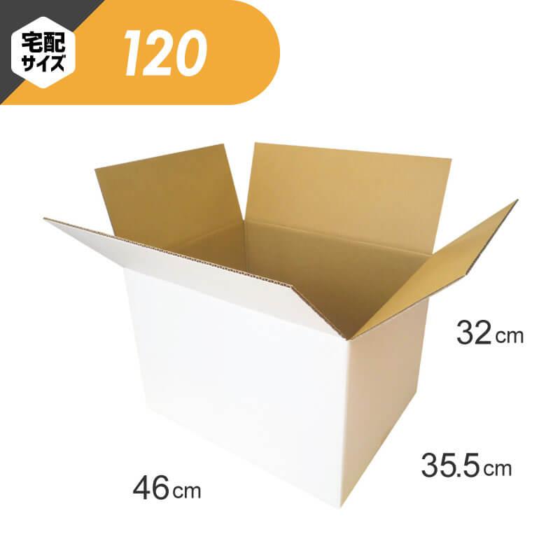 【宅配120サイズ】 白ダンボール (FW05)