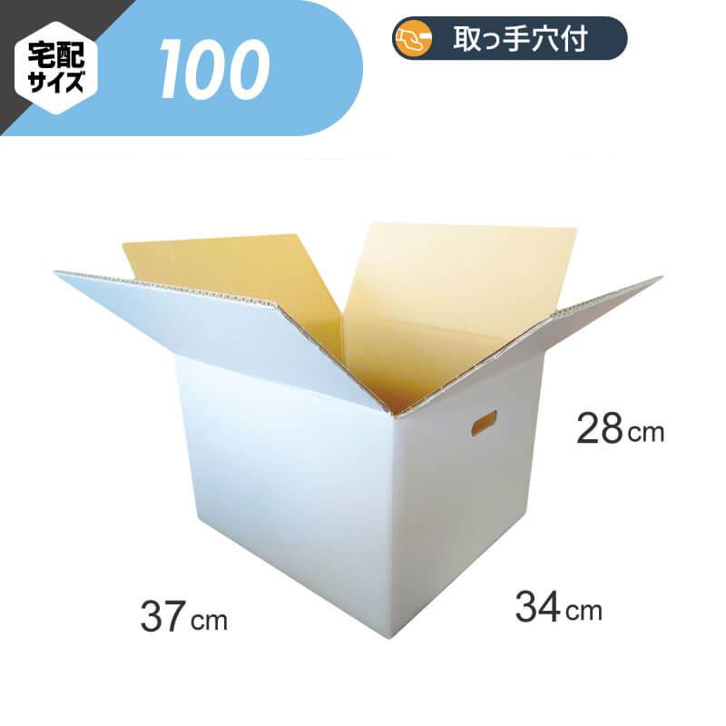 【宅配100サイズ】 白ダンボール (FW06b)