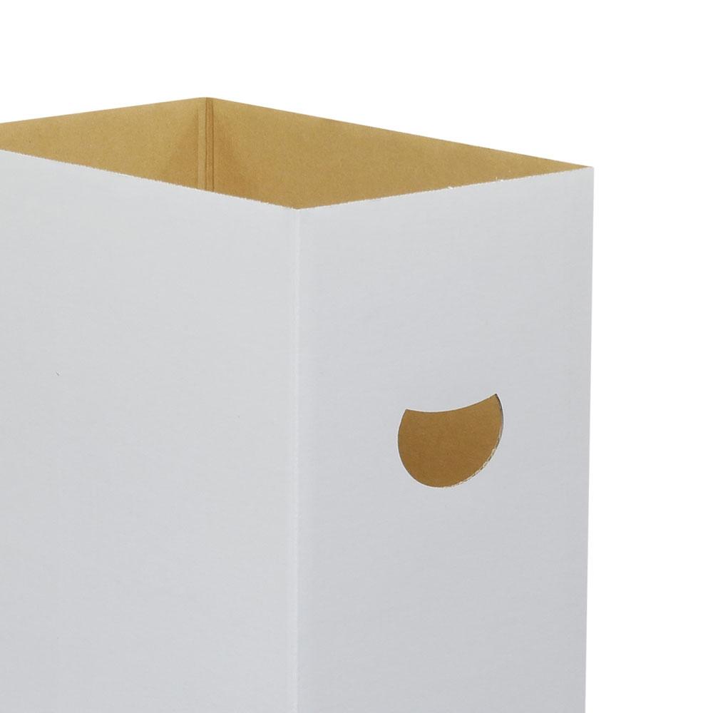ダンボる ダンボールゴミ箱 45L 白 無地 (DG04)