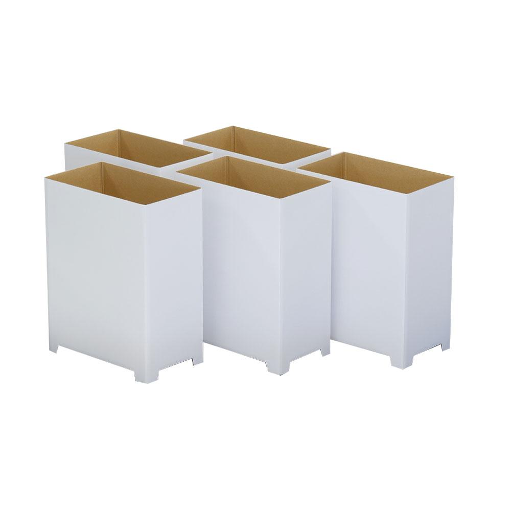 ダンボる ダンボールゴミ箱 20L 白 無地 (DG05)