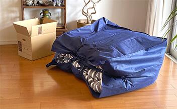 厚手でたっぷり入る丈夫な布団袋